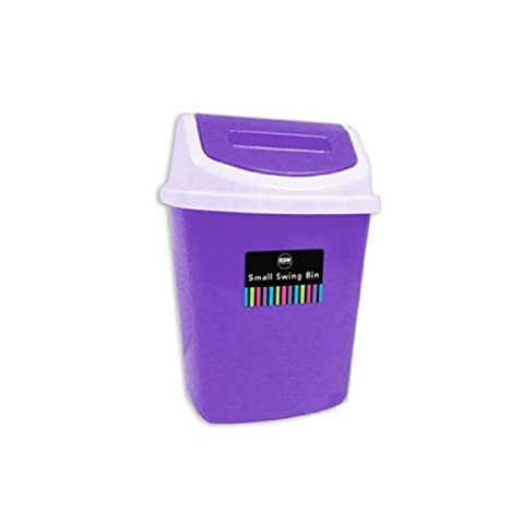 Brights Plastic Bin with Swing Lid 5l Capacity Ideal for Bathroom, Bedroom or Home Office