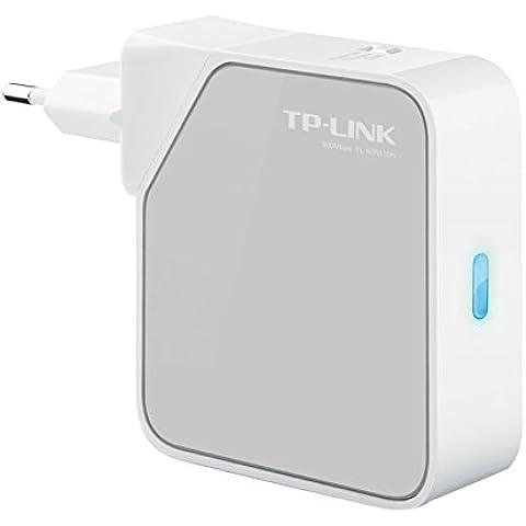 TP-LINK TL-WR810N - Punto de acceso WiFi de bolsillo/router/adaptador de TV/repetidor (N300 Mbps, 2 antenas internas, 2 puertos Ethernet, 1 puerto USB)