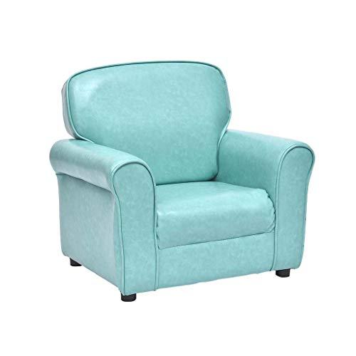 Kindersofa Bonbonfarbener Baby-Minisessel Einzelsofasitz Bequemes Sitzen Massivholz-BabymöBel Gepolstertes Kleines Sofa, 61 × 45 × 55 cm -