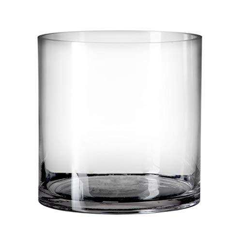 Jarrón cilíndrico Minimalista Transparente Cristal