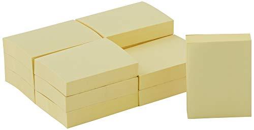 Post-it 653E Haftnotiz Notes (51 x 38 mm, 70 g/qm) 100 Blatt 12 Blöcke gelb