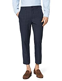 find. Tapered Slim Check Pantalones Hombre