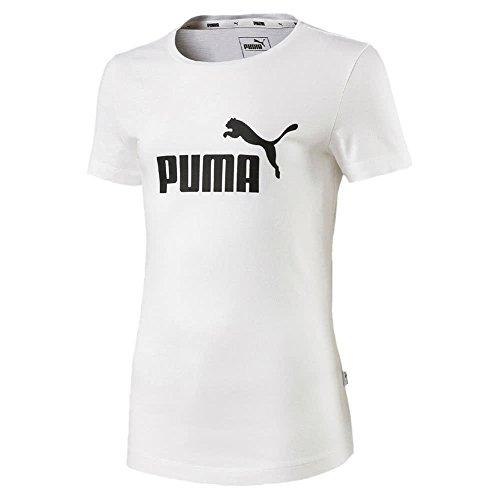 PUMA Mädchen ESS T-Shirt, White, 152