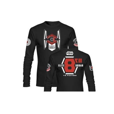SD toys - T-Shirt - Star Wars Episode 7- Homme Elite Squad Noir Manche Longue Taille XL - 8436546899297