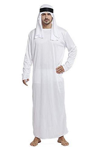 Lovelegis Einheitsgröße - Karneval Halloween Cosplay - Arabisch - Muslimisch - Weiß - Erwachsene - Mann - - Saudi Arabien Kostüm Männer