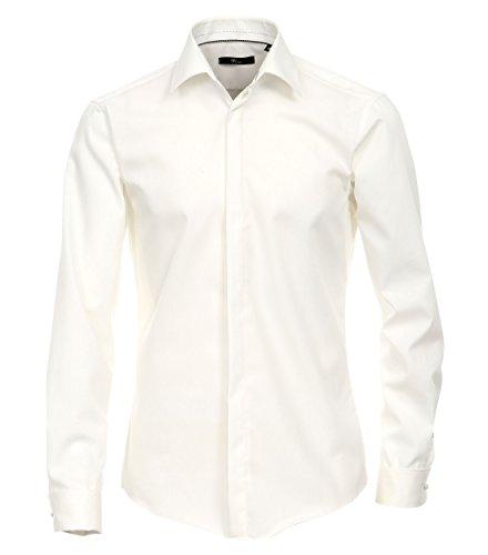 Michaelax-Fashion-Trade -  Camicia Casual  - Basic - Classico  - Maniche lunghe  - Uomo Creme (002)