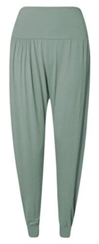 ASBAHFASHION Women's Full Length Cuffed Ankle Harem Ali Baba Baggy Trouser Pant KHAKI XXXL 24/26 Khaki Ankle Pants