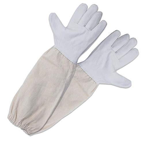 nenzuch Ziegenleder ein Paar Bienenzucht Handschuhe mit belüftetem Ärmel Perfekt Schutz für die Imker ()