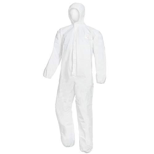 Nitras Protect - Einweg Overall Schutzanzug Kat 1 - Schutzanzüge Einwegoverall für Herren Damen Kinder - Weiß Größe XL