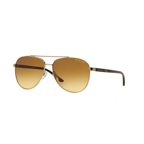 Michael Kors Unisex MK5007 Hvar Sonnenbrille, Gold 10442L), One size (Herstellergröße: 59)