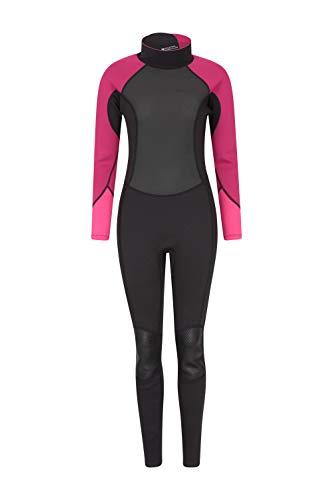 Mountain Warehouse Neopreno para Mujer - De una Sola Pieza, Ajuste, Cuello Ajustable y Cremallera de Cierre fácil, Mantiene el Calor - para Hacer Surf y Kayak Rosa 36-38