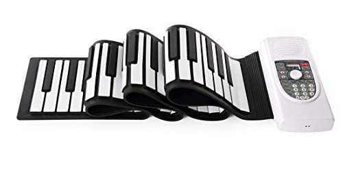Faltbare Klavier, Tragbare 88 Tasten USB Elektronische Tastatur Dualer Magnetischer Stereo-Lautsprecher Senden Sie Ein Sustain-Pedal Geschenke Für Geeignet Für Anfänger