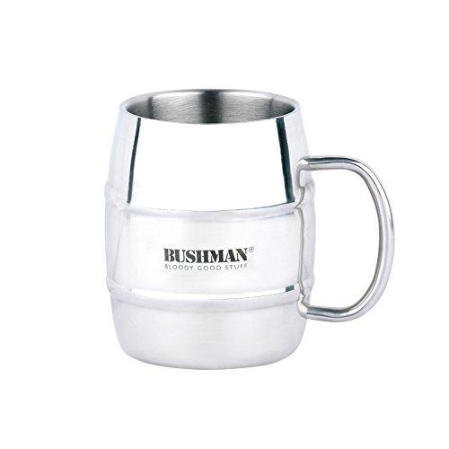 BUSHMAN Edelstahl Bierkrug 0,5 Liter Thermo Becher Thermo-Krug Camping Trinkbecher doppelwandig