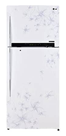 LG 470 L 4 Star Double Door Refrigerator (GL-M522GDWL, Daffodil White)