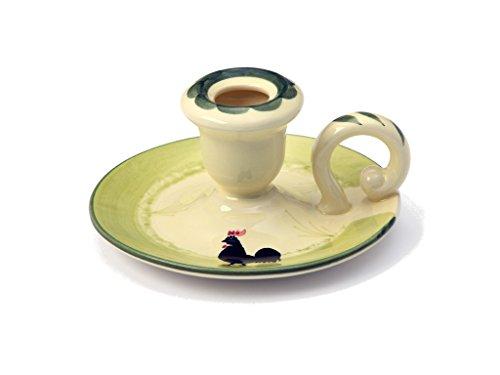 Zeller Keramik Leuchter Hahn und Henne Kerzenhalter Dekoartikel -