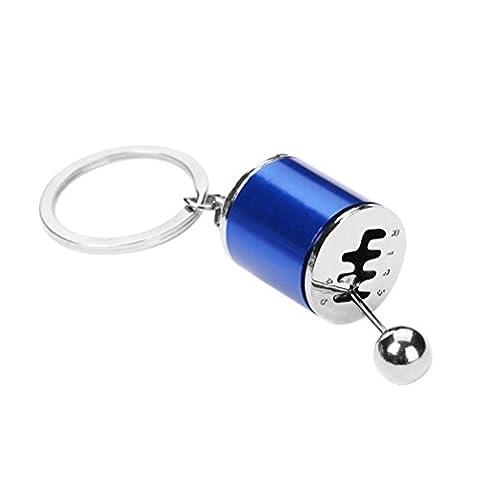 WINOMO Auto Schlüsselketten Modell Gear Shift 6 Geschwindigkeit Getriebe Form Anhänger Schlüsselanhänger Ring (blau)