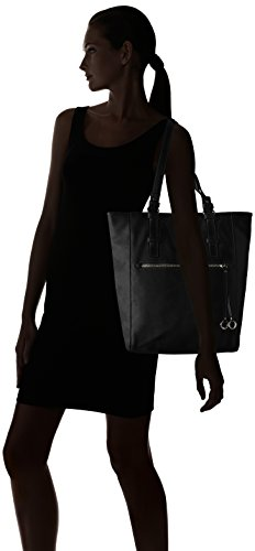 ESPRIT Damen 017ea1o022 Schultertasche, 28.5x38x13 cm 001 Black