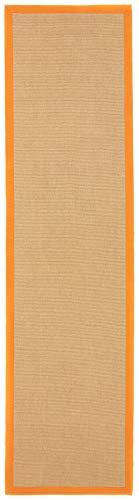 CarpetFine: Sisal Läufer Teppich 75x300 cm Orange - Bordüre