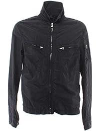 39a49bfebbe BELSTAFF Vestes Hommes 71120200 Aldington Black Tissu Noir Nouveau