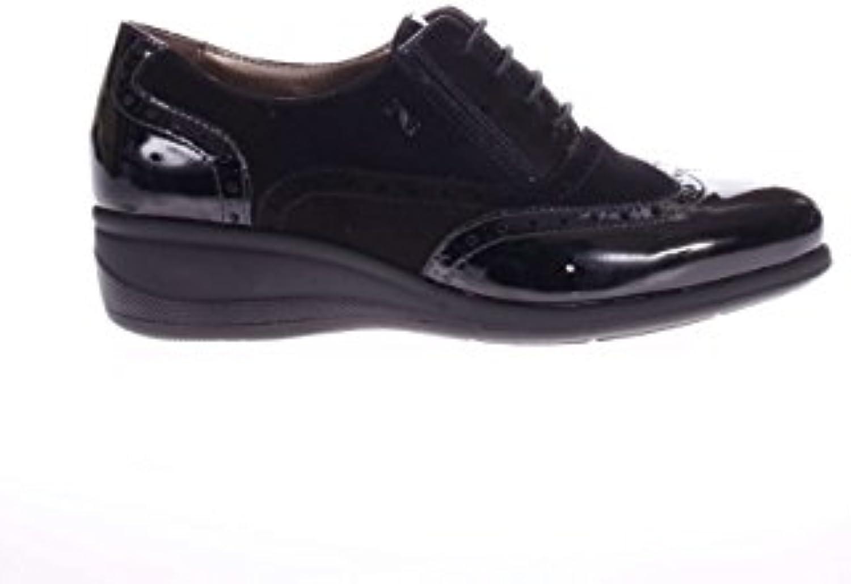 Noir jardins Femme Noué fonds Zeppa a616821d-100 Noué de fond de Noué chaussures de sport avec bucatura d46a42