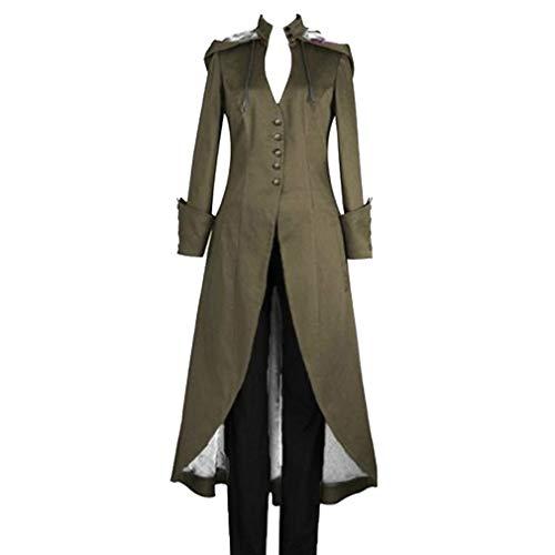 Damen Steampunk Gothic Barock Anzug Jacke Kapuzenmantel Viktorianische Frack Mode Holloween Party Cosplay Kostüm Outwear Langer Mantel (Holloween Kostüm Xxxl)