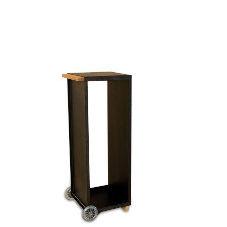 *Radius – Kaminholzwagen – Holz – Stahl – pulverbeschichtet – schwarz – 110 x 41 cm*