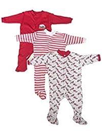 a347a709799f MINI BERRY Long Sleeve Cotton Sleep Suit Romper Set of 3