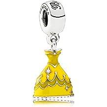 Pandora colgante del encanto del vestido de Belle 791576ENMX con Pandora empaquetado