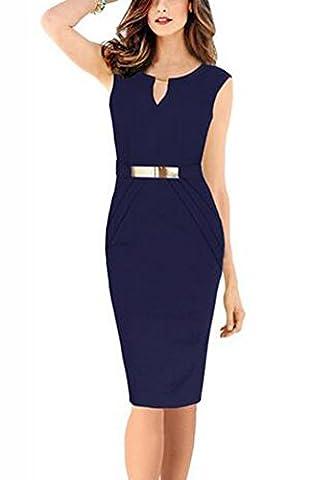 SunIfSnow - Robe spécial grossesse - Moulante - Uni - Sans Manche - Femme - bleu - X-Large