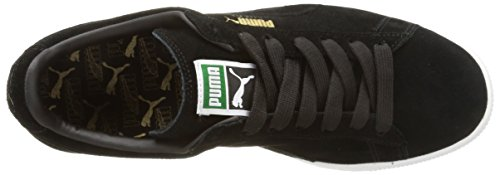Puma Suede Classic+ , Baskets Mode Mixte Adulte Noir (Black/Gold/White 87)