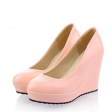 Rtry Femmes Chaussures Mariage Confort Pu Printemps Été Casual Rougissant Rose Noir Beige Blanc 4 In-4 3 / 4in Us4-4.5 / Eu34 / Uk2-2.5 / Cn33