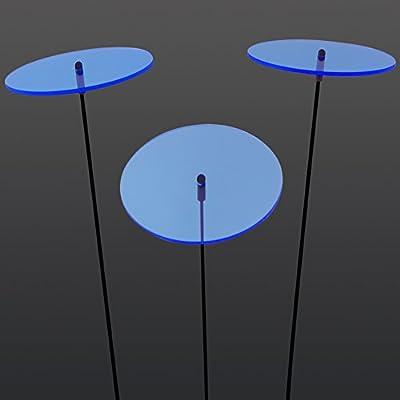 """SUNPLAY """"Sonnenfänger-Scheiben"""" in BLAU, 3 Stück je 10 cm Durchmesser im Set + 35 cm Schwingstäbe von SUNPLAY - Lampenhans.de"""