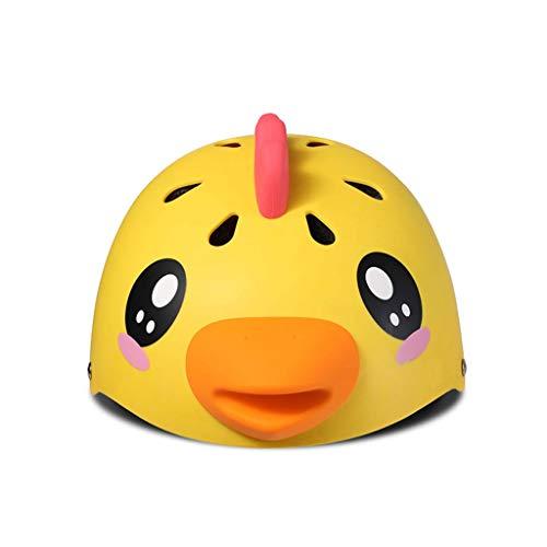 NJ Helm- Kinderhelm - Resizable, 3-5 Jahre - Dauerhafter Kinderreitschutzhelm - Balance Car Protector (Color : Chick, Size : 46-54cm) (Balance Huhn)