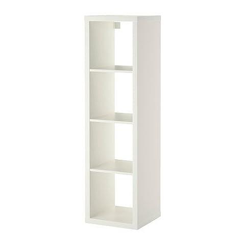 IKEA KALLAX Regal in weiß; (42x147cm); Kompatibel mit EXPEDIT