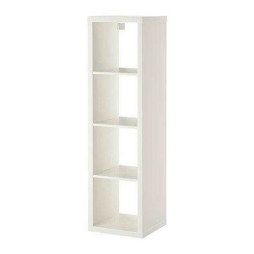 Ikea Kallax Étagère rectangulaire à 4compartiments, Bois dense, blanc, 42x147 cm