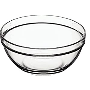 "31nsZtlte L. SS300  - Arcoroc E554 Chefs Glass Bowl, 340 mL, 11.9 oz., 120 mm, 4.8"" (Pack of 6)"