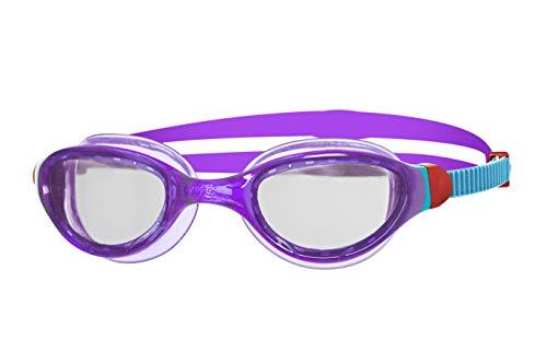 Zoggs Phantom Curve Junior with UV Protection and Anti-Fog Gafas de natación, Infantil, Purple/Blue/Clear, 6-14 años