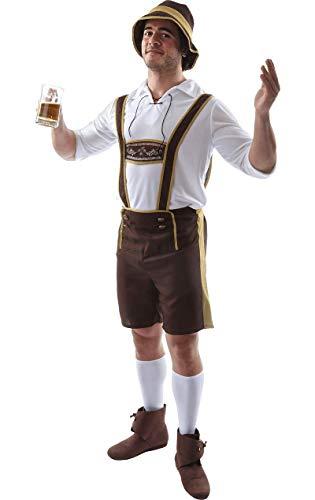 (Oktoberfest Bayerische Deutsche Lederhosen Kostüm Herren Verkleidung Extra Large)