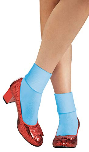 """Rubies - Zapatos de lentejuelas para adulto, diseño oficial de Dorothy de """"El mago de Oz"""", rojo, tamaño mediano"""