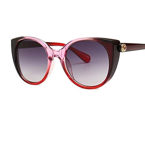 TJJQT Sonnenbrillen Cat Eye Sonnenbrille Damenbrille Farbrahmen Die Cat Eye Sonnenbrille Damen Schwarze Sonnenbrille Logo Uv