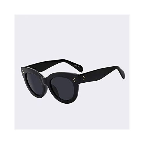 Sportbrillen, Angeln Golfbrille,Cat Eye Sunglasses Women Brand Designer Sun Glasses Retro Vintage Rose Gold Points Female Top Quality Oculos De Sol Feminino C1 Gloss black