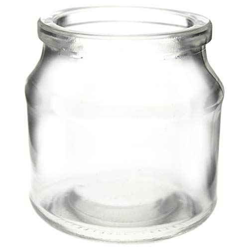 Annastore 12 x Teelichtgläser H 7 cm - schöne kleine Windlichter für Teelichter - Teelichtglas klar 12er Set - Tisch-Deko-Teelichthalter