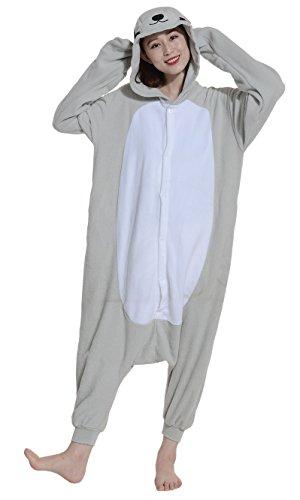 Fandecie Pyjama Tier Onesies mit Kapuze Erwachsene Unisex Cospaly Schlafanzug Halloween Kostüm Dichtung Geeignet für Hohe 160-175CM (Halloween-kostüm Dichtung Tier)