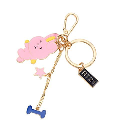 Guoxii Stilvolle offizielle gleiche Schlüsselring Metall Schlüsselkette Nette Tasche Anhänger(None Rabbit) -