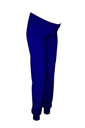 Schwangerschaftshose Jogginghose Sporthose Größe Umstandshose Yoga Hose Baumwolle, Größe:M, Farbe:Brilliantblau