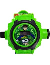 Ben 10 Digital Boys' & Girls' Watch (Green Colored Strap)