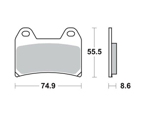 Pastiglie dei freni TRW MCB683SV per Ducati 696 Monster, ABS M5 08- (anteriore)