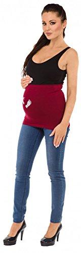 Zeta Ville - Maternité Bandeau de grossesse scintiller imprimé - femme - 009c Cramoisi