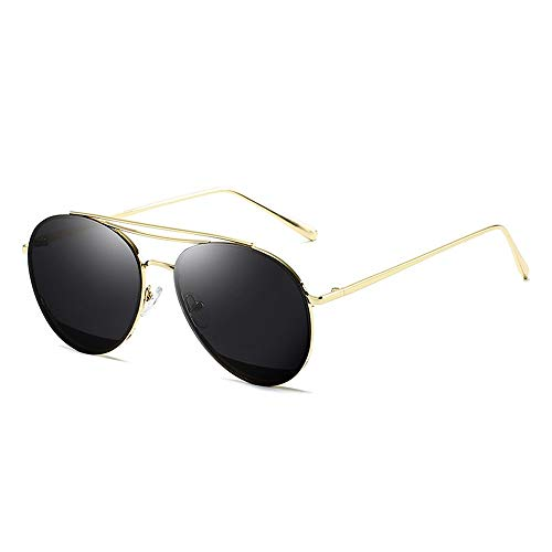 Classic Aviator Mirrored Flat Lens Sonnenbrille Metallrahmen mit Federscharnieren Metallrahmen Sonnenbrille Brille (Color : 02 schwarz, Size : Kostenlos)