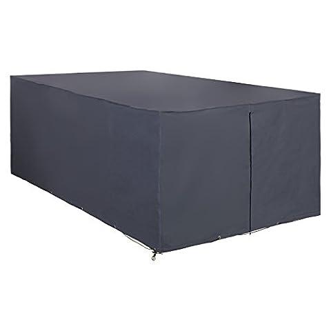 Songmics Housse Bâche de Protection 200 x 160 x 70 cm oxford de 600D étanche rectangulaire pour Mobilier de Jardin